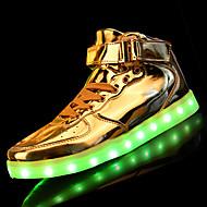 נשים-נעלי ספורט-PU-נוחות להאיר נעליים-כסוף זהב-יומיומי-עקב שטוח