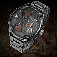 Men's Military Watch Dress Watch Fashion Watch Wrist watch Calendar Dual Time Zones Punk Quartz Alloy Band Vintage Cool Casual Luxury
