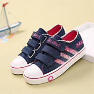 לבנות-נעלי ספורט-קנבס-נוחות-שחור / כחול-קז'ואל