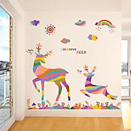 Animali / Natale Adesivi murali Adesivi aereo da parete Adesivi decorativi da parete,pvc Materiale Rimovibile Decorazioni per la casa