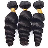 Vinsteen 3 Pcs/Lot 8-30 Inch Brazilian Virgin Hair Natural Color Loose Wave Human Hair Extensions