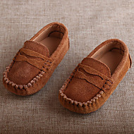 Boys' Flats Moccasin Suede Casual Peach Light Brown Khaki