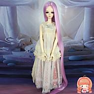 75cm extra lange rechte roze kleur haar 1/3 1/4 BJD sd dz pop pruik accessries niet voor menselijke volwassen