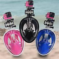 Dykning Masker Sikkerhedsudstyr To-vindue Unisex PVC Silikone Uden brug af værktøj Beskyttende Helmaske 180 graderDykning og snorkling