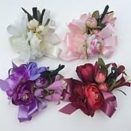 פרחי חתונה ורדים שושנים פרחי אדמוניות פרחי דש חתונה חתונה/ אירוע סאטן