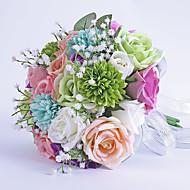 Свадебные цветы Круглый Розы Букеты Свадьба Партия / Вечерняя Атлас Гербарий