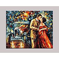Ručně malované Lidé olejomalby,Moderní / Klasický / Tradiční / Realismus / Středomoří / Pastýřský / evropský styl Jeden panel Plátno