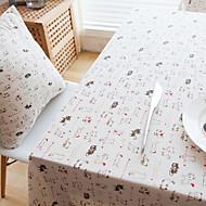 Obdélníkový Se vzorem / Zvíře Ubrusy , Lněný Materiál Hotel Jídelní stůl / Tabulka Dceoration