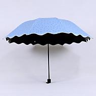 Groen / Blauw / Roze / Beige Vouwparaplu Parasol Plastic Wandelwagen