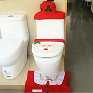 Santa tampa do vaso sanitário Noel esteiras dos caixas de tecido tampa do tanque