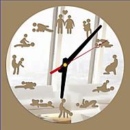 Moderne/Contemporain / Bureau / Affaires Niches / Famille / Ecole/Diplôme / Amis Horloge murale,Rond / Nouveauté Verre / Plastique