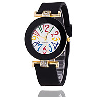 Women's Fashion Watch Bracelet Watch Quartz Silicone Band Vintage Casual Black White Blue Red Brown Green Pink Navy Ivory