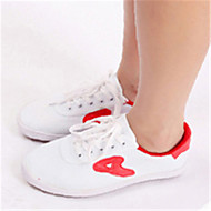 Na míru-Dámské-Taneční boty-Taneční tenisky-Kanvas-Rovná podrážka-Černá / Červená / Bílá