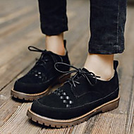 Women's Oxfords Fall Winter Others Suede Casual Black Beige
