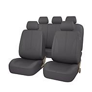 PU läder universell auto bilstol täcker svart grå beige färg med tre blixtlås