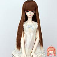 diy lange rechte bruin kastanjebruin kleur haar pruiken 1/3 1/4 BJD sd dz MSD pop pruik accessoires die niet voor menselijke volwassen