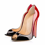 Women's Heels Spring Summer Fall PU Wedding Outdoor Office & Career Dress Casual Party & Evening Stiletto HeelBlack/Gold Blue Black/Red