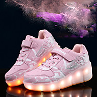 LED Light Up Shoes, Girl's Boots Spring / Summer / Fall / Winter Comfort Synthetic Casual Flat Heel Magic Tape / Blue / Pink / Gray Others