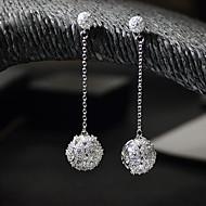 עגילי הגדר ריינסטון אבן נוצצת מצופה כסף כסף תכשיטים ל חתונה Party 1 זוג