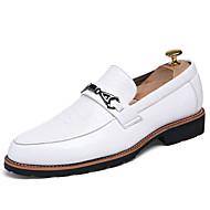Kényelmes-Lapos-Női cipő-Félcipők-Alkalmi-PU-Fekete Fehér