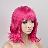 europæiske og amerikanske kvinder hoved mode pære rødt kort hår høj temperatur wire paryk