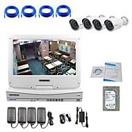 strongshine® IP kamera s rozlišením 720p / infračervených / voda-důkaz a NVR s 10.1inch LCD / 2TB dohled hdd combo výstroje