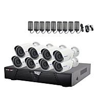 strongshine®ip fotoaparát s 1080p / infračervených / nepromokavá a 8ch H.264 NVR combo výstroje