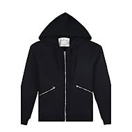 Trenduality® Férfi Kerek Hosszú ujjú Hoodie pulóver & Fekete Elhalványulnak - ZZ031