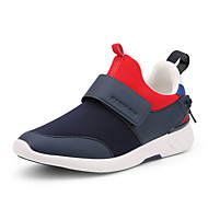 Men's Athletic Shoes Spring Summer Fall Winter Comfort Leatherette Outdoor Athletic Flat Heel Black Blue Red Running