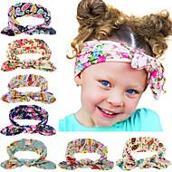8 цветов / комплект моды Bebe девочка дот узел оголовье новорожденный аксессуары для волос детские эластичные ленты для волос