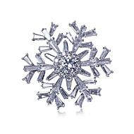סיכת סיכת פתית שלג לנשי אבזרי בגד חתונת zirconia מעוקב סיכת תכשיטי מתנות חג המולד