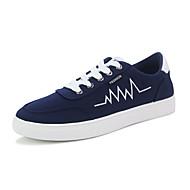 Herren-Sneaker-Lässig-Stoff-Flacher Absatz-Komfort-Schwarz Blau Rot Weiß