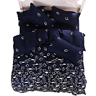 Mingjie Wonderful Dark Blue Bedding Sets 4PCS for Twin Full Queen King Size from China Contian 1 Duvet Cover 1 Flatsheet 2 Pillowcases