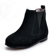 Girls' Boots Comfort Combat Boots Suede Fall Winter Casual Comfort Combat Boots Flat Heel Black Brown Dark Grey Flat
