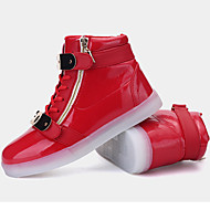Unisex-Sportschuhe-Outddor Lässig Sportlich-Mikrofaser-Flacher Absatz-Komfort Neuheit Light Up Schuhe-Blau Rot