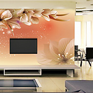 フローラル柄 ホームのための壁紙 現代風 ウォールカバーリング , ビニール 材料 接着剤必要 壁画 , ルームWallcovering