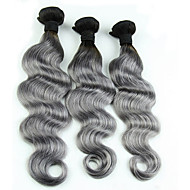 3pcs/Lot 12''-24'' Unprocessed  Eurasian Body Wave Virgin Human Hair Silver Gray Hair Extensions Grey Hair Weaves