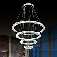 LED Crystal Pendant Light Chandeliers Lighting Ceiling Lamp for Indoor  with 4ring 15305070CM 73.5W CE FCC ROHS