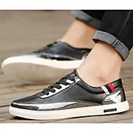 Men's Sneakers Comfort Microfibre Casual Black Silver Gold