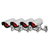 kingneo 4шт белый беспроводной поддельные манекен камеры безопасности CCTV купола свет водить