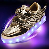 ユニセックス-アウトドア カジュアル アスレチック-PUレザーコンフォートシューズ アイデア 靴を点灯-アスレチック・シューズ-ゴールド シルバー ピンク