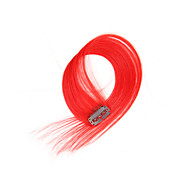 2 szt / set 4 Teledyski klip w przedłużanie włosów czerwone 14inch 18inch 100% ludzkich włosów dla kobiet