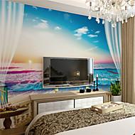 Art Deco Tapete Für Privatanwender Zeitgenössisch Wandverkleidung , Leinwand Stoff Klebstoff erforderlich Wandgemälde ,