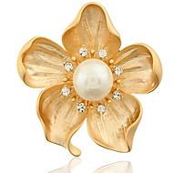 Fashion Woman Alloy Flower Brooch