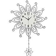Moderne / Nutidig Huse Wall Clock,Andre Akryl Glass Metall 55*82CM Innendørs Klokke