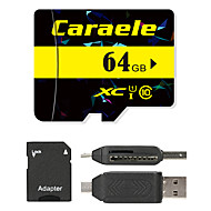 Caraele 64GB Micro SD card Class 10 80 OtherMultiple in one card reader Micro sd card reader SD card reader CF card reader Memory stick reader