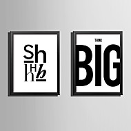 E-HOME® Framed Canvas Art Letter Combinatione Theme Series Framed Canvas Print One Pcs