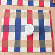 Obdélníkový Grafika / Se vzorem / Vzor gingham Prostírání , Směs bavlny Materiál Hotel Jídelní stůl / Tabulka Dceoration