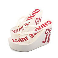 Women's Slippers & Flip-Flops Summer Slingback Polyester Casual Wedge Heel Others Black Blue Brown Pink White Fuchsia Others