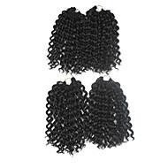 Pre-loop kukičanje Pletenice Ekstenzije za kosu 9Inch Kanekalon 1 Package For Full Head Nasukati 170g gram Sušilo za pletenice